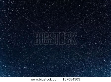 Night sky with stars. Photo in great endurance