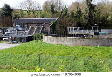 Waste Water And Sewage Treatment Plant In The Countryside