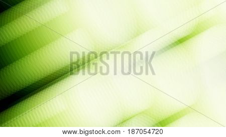 Wide format abstract background, visual illusion of gradient effect. Rhythmic circles. Decorative shapes. 3d green background. Vector EPS10 without gradient with transparency. Motion blur illusion