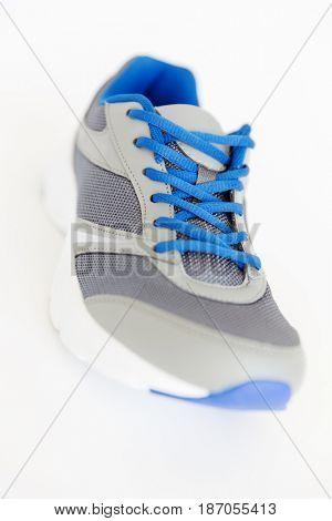 isolated unisex modern style jogging shoe