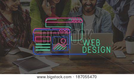 Website Design Content Layout Graphic