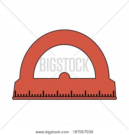 color image cartoon red rule conveyor for school vector illustration
