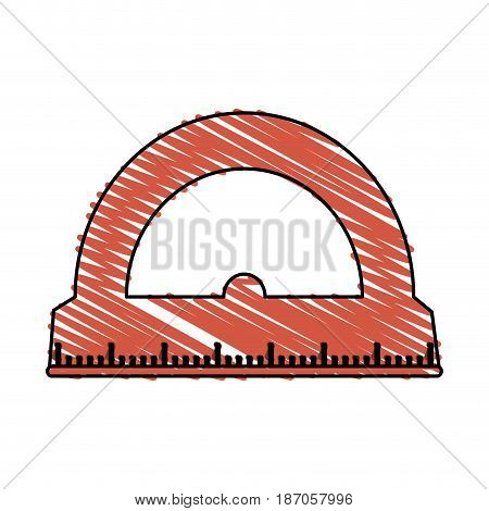 color crayon stripe cartoon red rule conveyor for school vector illustration
