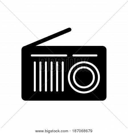 radio line icon, outline vector logo, linear pictogram isolated on white, pixel perfect symbol illustration. eps 10
