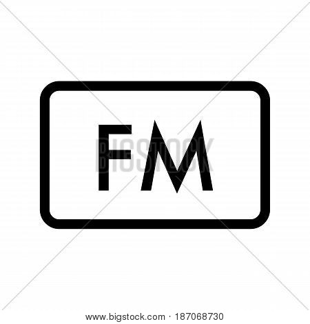 FM radio frequency vector icon. Linear design isolated on white background. eps 10