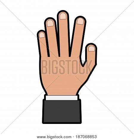 open hand icon image vector illustration design