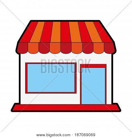 small store or shop icon image vector illustration design
