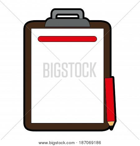 clipboard with pencil icon image vector illustration design