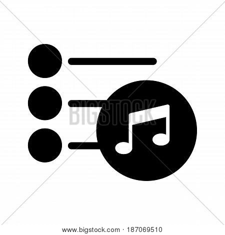 Playlist icon vector. Isolated on white background. eps 10