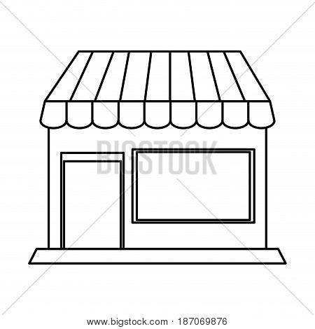 small store or shop icon image vector illustration design  single black line