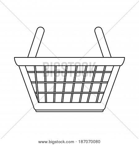 shopping basket icon image vector illustration design  single black line