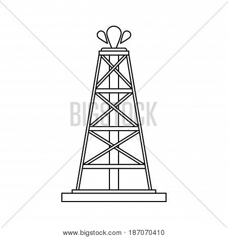 oil extraction icon image vector illustration design  single black line