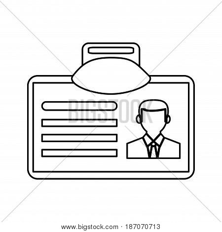 work id card icon image vector illustration design  single black line