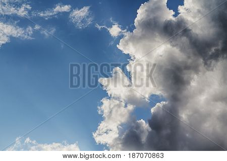 Landscape of Beam of light and the clouds