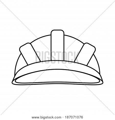 helmet industrial security icon image vector illustration design  single black line