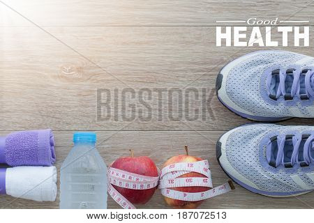 Good Health concept. Healty lifestyle for background