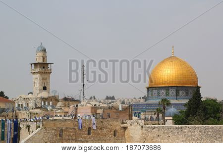 Famous Dome of the Rock mosque in Jerusalem, Israel.