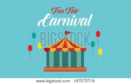 The carnival funfair background style vector art