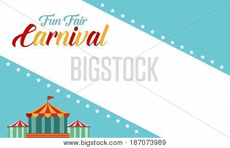 Background carnival funfair funny style vector art