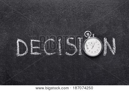 Decision Word Watch