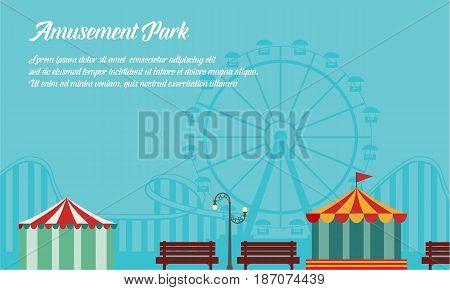 Background style amusement park collection vector art
