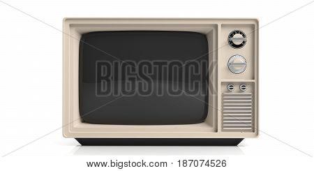 Vintage Tv On White Background. 3D Illustration