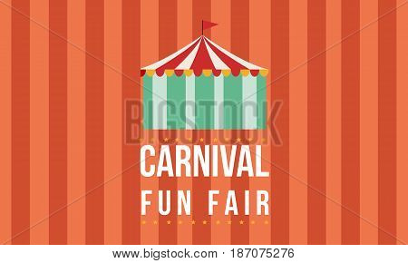 Carnival funfair with tent background vector art