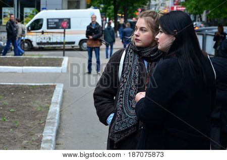 Kharkov, Ukraine - May 17, 2017: Some Participants Of The First Lgbt Action In Kharkov After Its For