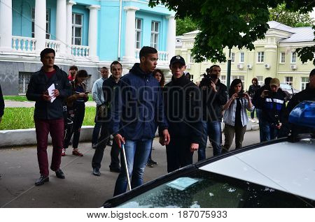 Kharkov, Ukraine - May 17, 2017: Conflict Between The Police And The Organization Of Nazis And Patri