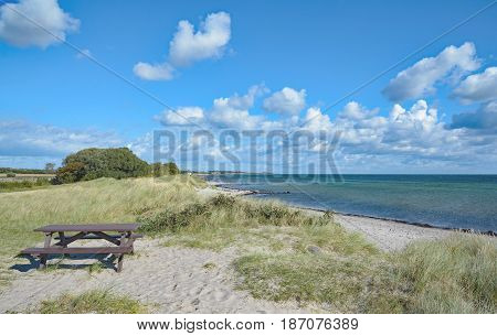 Picnic Area on Fehmarn at baltic Sea,Schleswig-Holstein,Germany