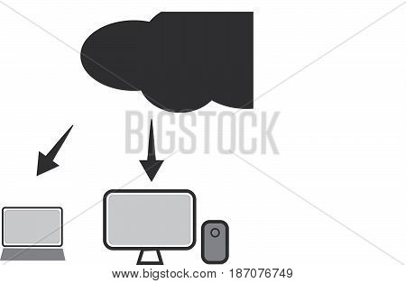 cloud technology icon. web cloud technology business abstract.