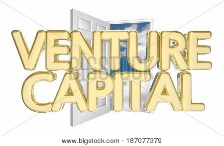 Venture Capital Door Opening Find Funding Financing 3d Illustration