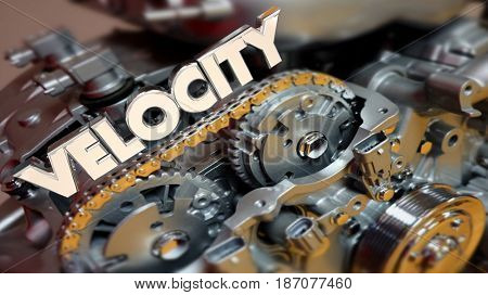 Velocity Engine Faster Horsepower Motor Speed 3d Illustration