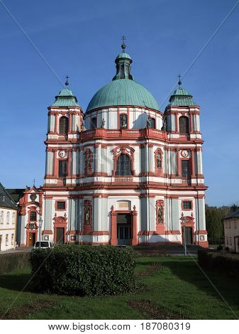 Minor Basilica of St. Lawrence and St. Zdislava Jablonne v Podjestedi Bohemia
