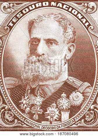 Manuel Deodoro da Fonseca portrait from old Brazilian money