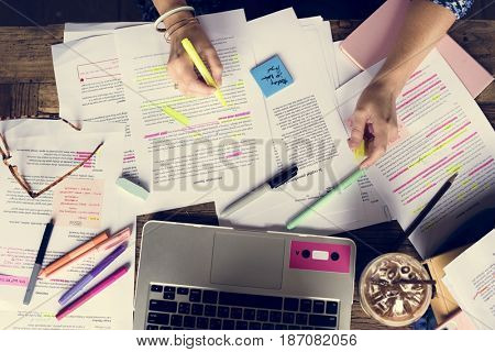 College People Study Learning Reading Lecture Notes
