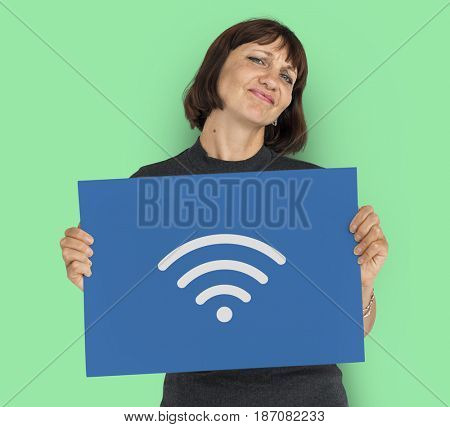 Wifi Internet Communication Graphic Symbol Icon
