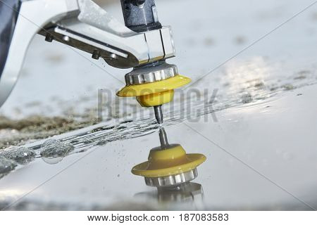 Hydroabrasive treatment. Metalworking cutting with water jet poster