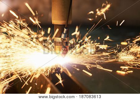Laser or plasma cutting technology of flat sheet metal.