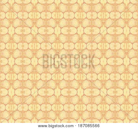 Abstract geometric seamless background in quiet colors. Regular ellipses pattern beige, peach color, apricot color and light brown.