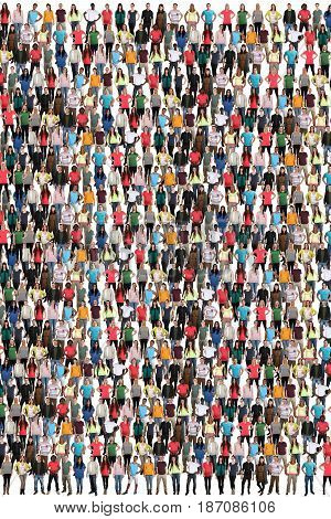 Group Of People Background Crowd Multicultural Multi Ethnic