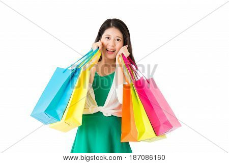 Concept Of Shopping Woman With Bags