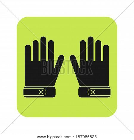 Protective gloves, working clothes. Flat icon, object for design. Vector illustration