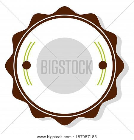 circle seal stamp icon vector illustration design