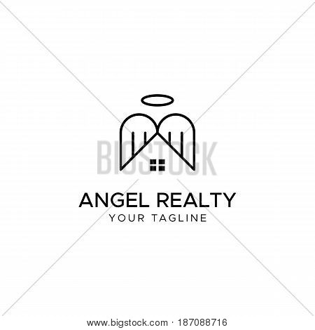 ANGEL REALTY full editable vector logo template