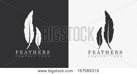 Design A Logo With Two Feathers And The Name Of The Company, For A Writer Or Publishers.