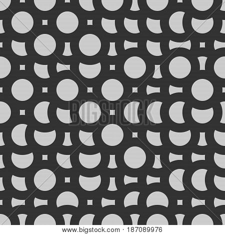 mosaic grayscale circles rustic vector background pattern