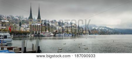 panoramic view of Luzern, Switzerland