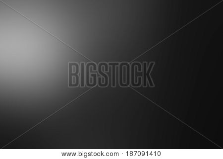 Dark grey black and white tones abstract gradient soft blur background