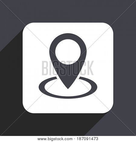 Pointer flat design web icon isolated on gray background